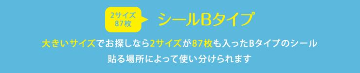 名前シールB 大きいサイズでお探しなら2サイズが87枚も入ったBタイプのシール 貼る場所によって使い分けられます